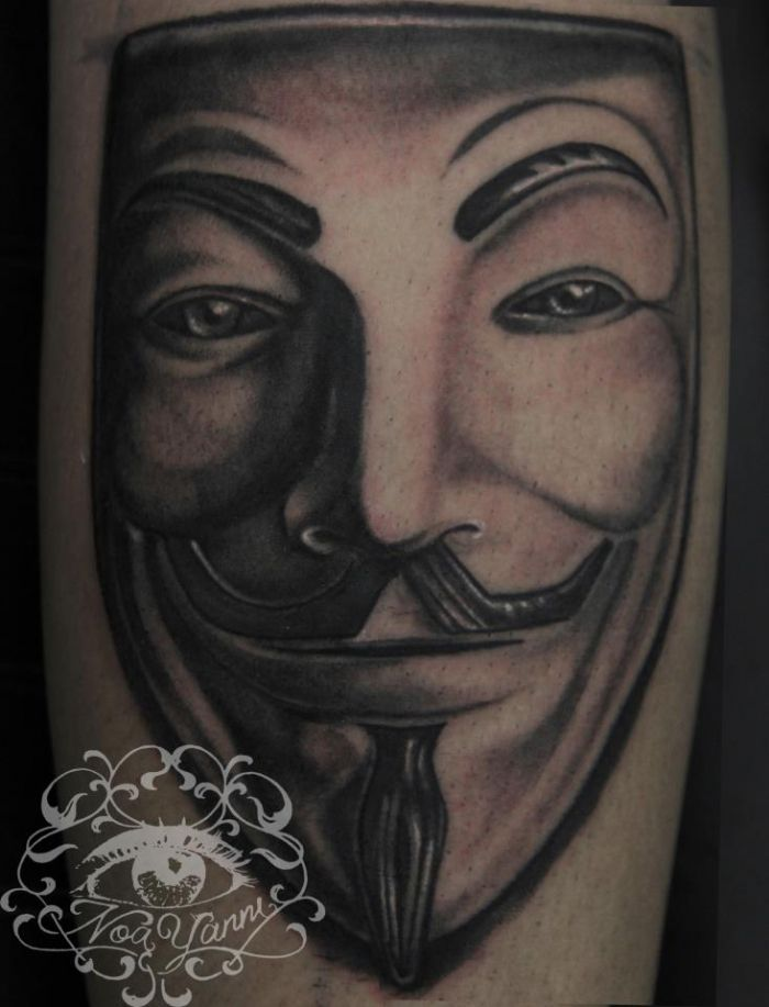 V For Vendetta Mask Tattoo 51 best V for V...