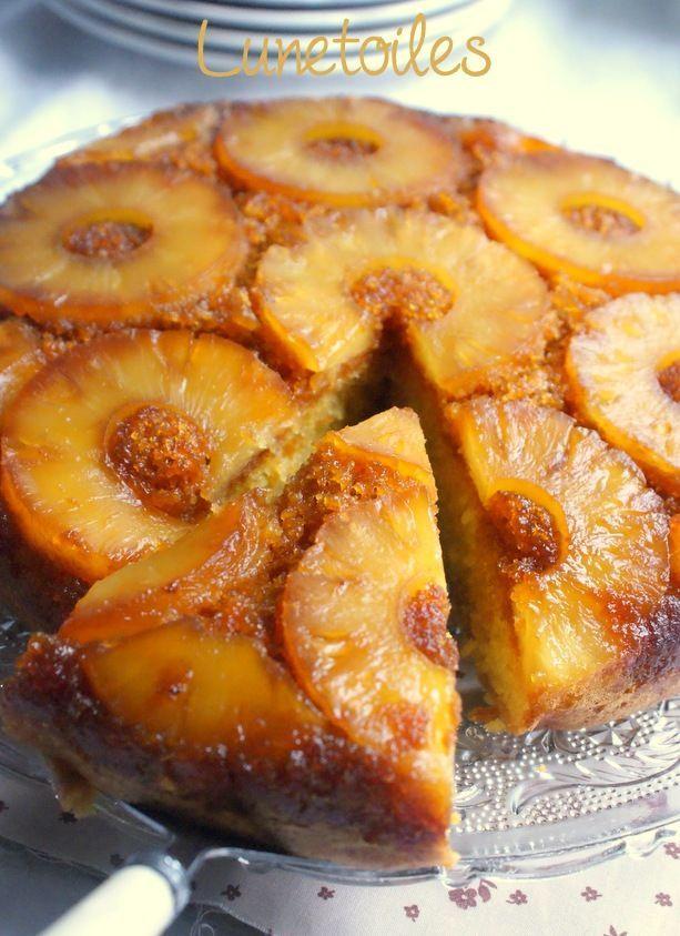 Gateau renversé a l'ananas facile Bonjour tout le monde,  la gâteau renversé a l'ananas es...