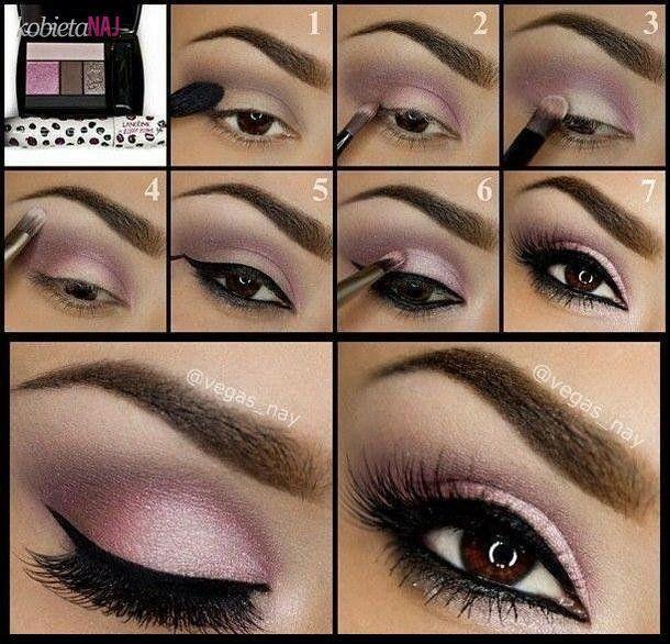 Różany make up oczu - krok po kroku!!!