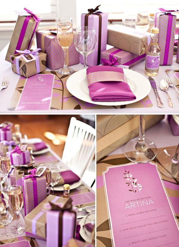 purple life | Unique Girls Baby Shower Ideas and Themes