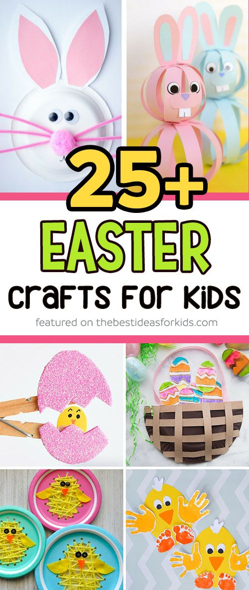 Over 25 Easter Crafts for Kids - so many fun ideas! From Easter Bunny, Easter Chick, Easter Basket, and Easter egg and more! Perfect for toddlers and preschoolers. Easter Crafts Kids | Easter Crafts for Toddlers | Easter Crafts Preschool #easter #eastercrafts #kidscrafts #holiday #diy #crafts via @bestideaskids