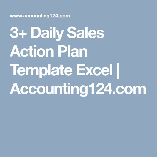 3+ Daily Sales Action Plan Template Excel   Accounting124.com