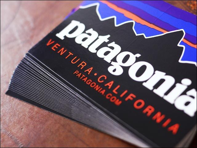 Free Stickers from Patagonia Clothing