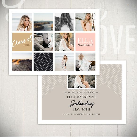 Graduation Announcement - WF5x7B by Laurie Cosgrove Design on @creativework247