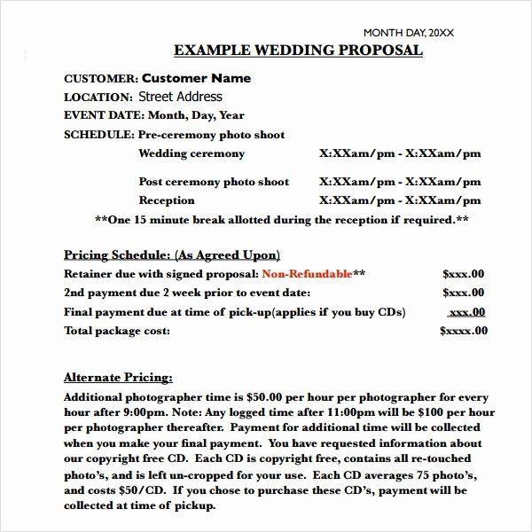 30 Wedding Planner Proposal Template In 2020 Wedding