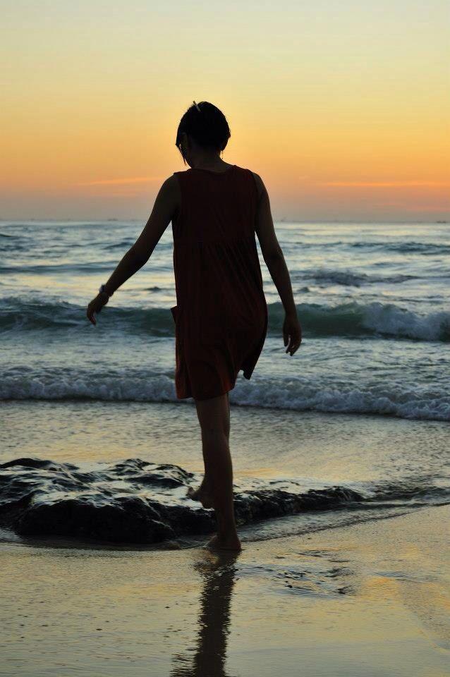 Beautifull sunset at Dreamland Beach, Bali, Indonesia
