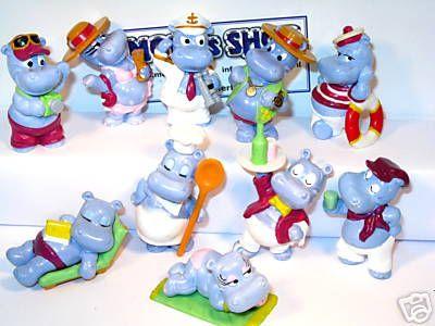 Les jouets kinder : les hippos