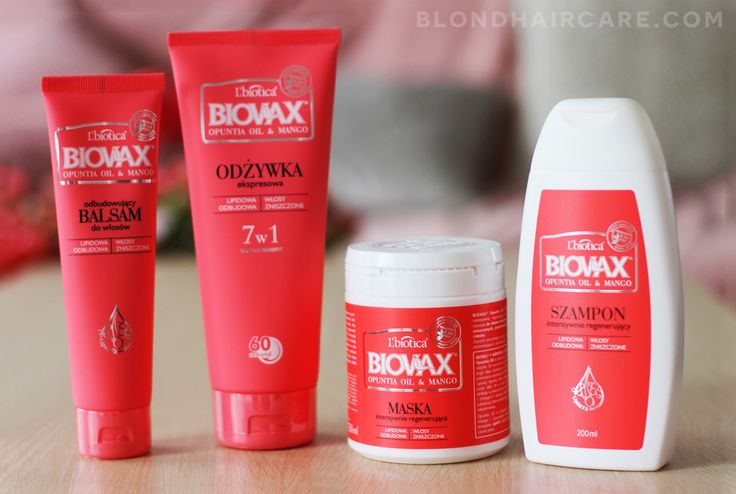 Kosmetyki do włosów BIOVAX Opuntia & Mango | Moja opinia - Pielęgnacja Włosów Blog