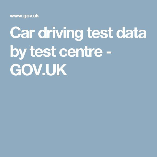 Car driving test data by test centre - GOV.UK