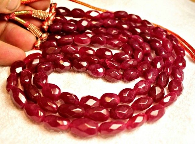 687.7 Tcw. Three Strand Adjustable Ruby Necklace  NATURAL RUBY   GEMSTONE NECKLACE FROM GEMROCKAUCTIONS.COM