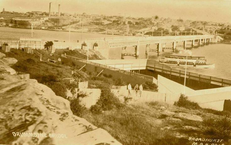 The old Drummoyne swimming pool, next to the original Bridge. v@e