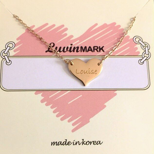 My little heart necklace   Thank you #Louise  #freeshipping #etsy #LUVINMARK  #love #heart #heartnecklace #necklace #jewelry #silverjewelry #namejewelry #instamood #gift #perfectgift #cute #thankyou