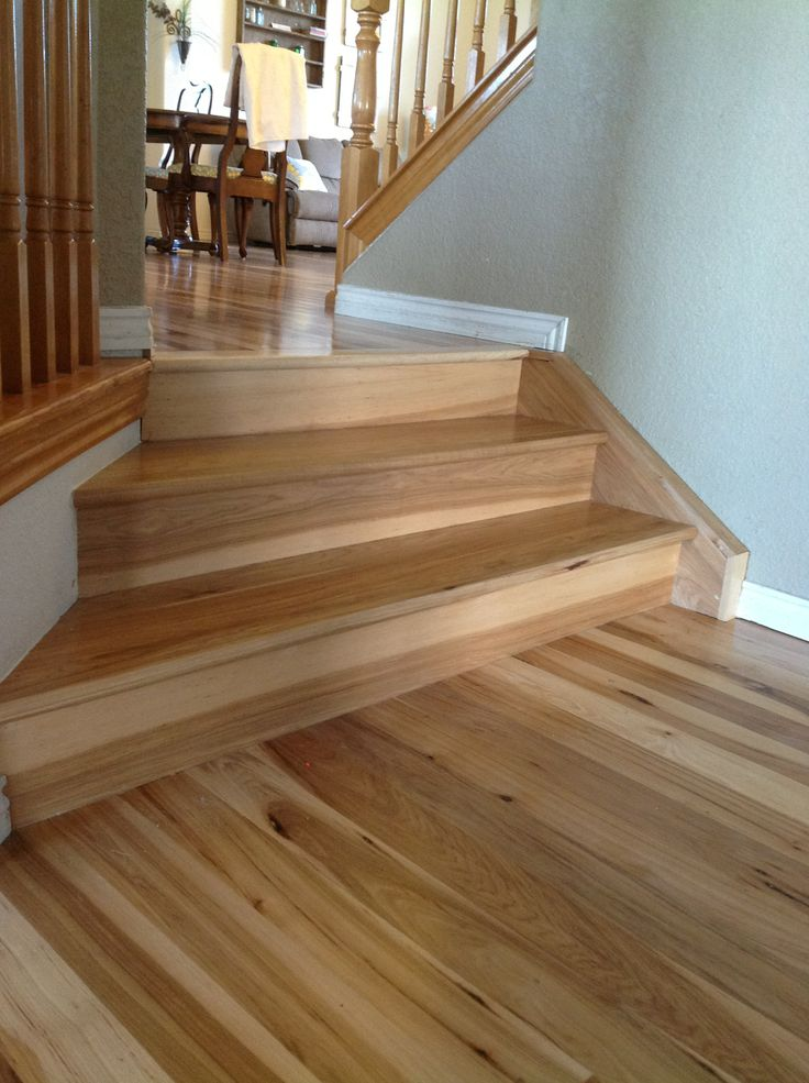 Hickory On Stairs Wood Flooring Ideas Pinterest