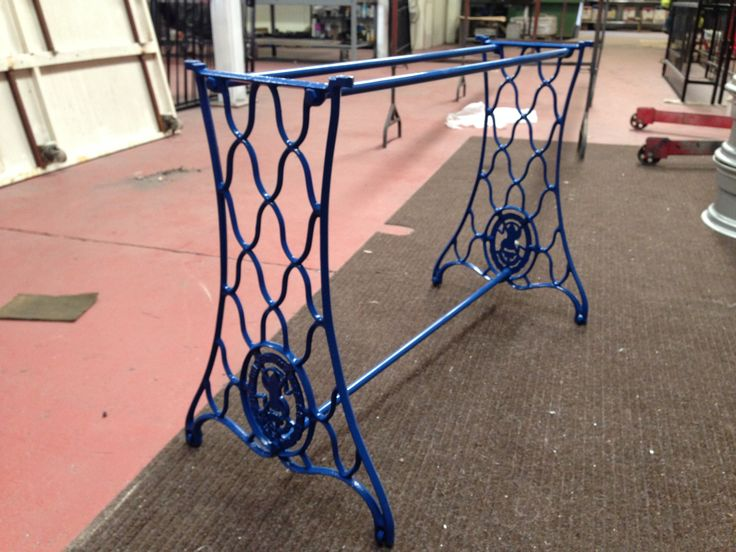 Garden table done in blue by Donegalpowdercoating company