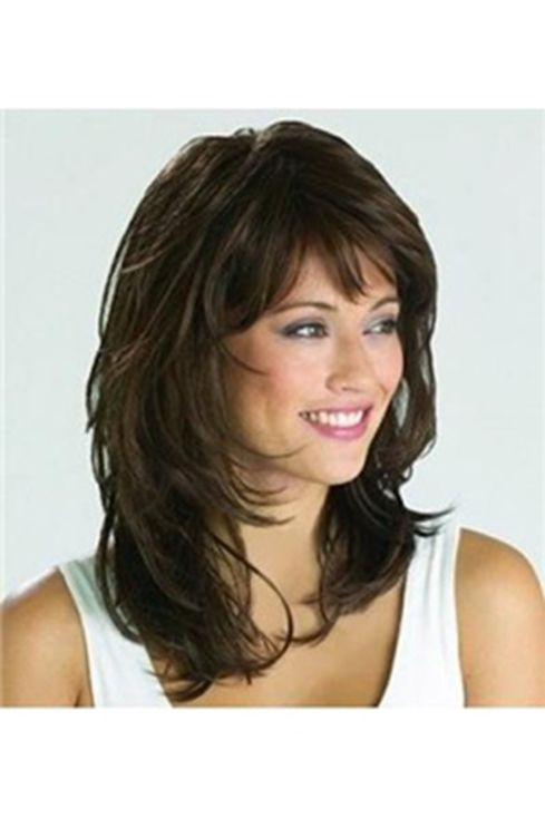 Medium Length Hairstyles With Bangs Alluring 46 Best Long Hair Styles Images On Pinterest  Layered Hairstyles