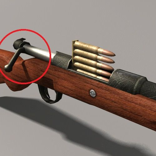 The bolt handle is in the wrong position. The angle of this handle is for the closed, in battery position.