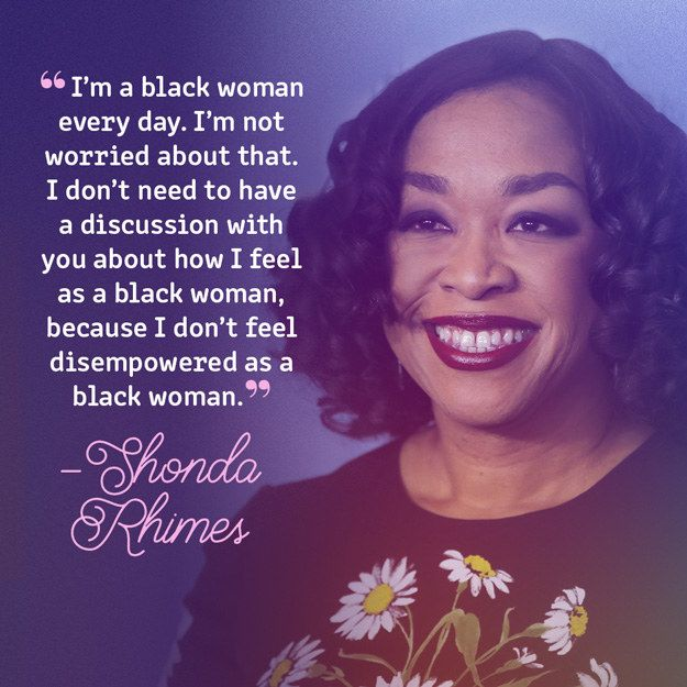 Shonda Rhimes On Being A Black Woman Quotes Inspirational