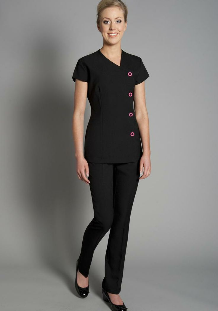 Florence Roby | Beauty Uniforms, Beauty Tunics, Salon Wear, Salon Uniform, Spa Uniforms, Spa Wear http://www.uniformcollection.com/tunics/mori-tunic/