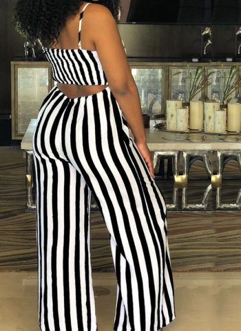 39cc308e6dd Hualong Wide Leg Black And White Striped Jumpsuit - Online Store for Women  Sexy Dresses