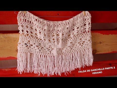 Falda de Verano a Ganchillo I SKIRT SUMMER I PARTE 2/2 I cucaditasdesaluta - YouTube