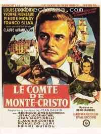 LE COMTE DE MONTE-CRISTO (Claude Autant Lara, 1961) with Louis Jourdan as Edmund Dantes.
