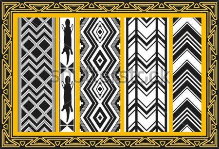 Set Van Oude Indiaanse Patronen clip arts - ClipartLogo.com