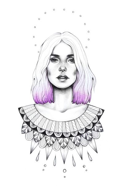 """Lilly"" Illustration by Sarah McCloskey ( @ sarsar ) www.hellosarsar.com"