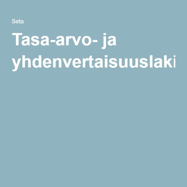 Tasa-arvo- ja yhdenvertaisuuslaki