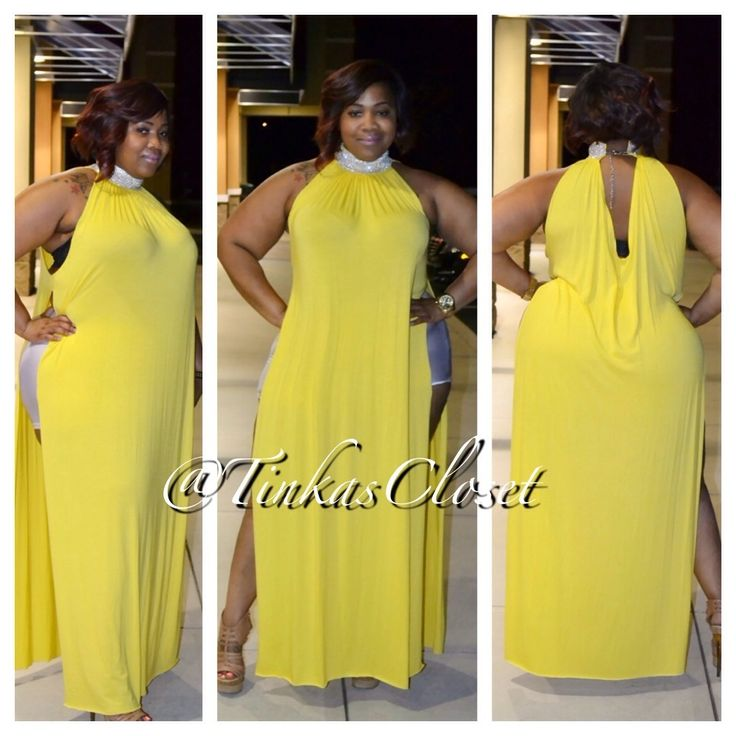 Plus size Fashion exclusive: Tinka's Closet  - YELLOW LEXI, $150.00 (http://www.tinkascloset.com/yellow-lexi/)