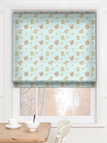 Weston Rose Sky Roman Blind from Blinds 2go