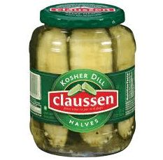 Claussen Pickles! The best! Or any pickle brand will do!  But especially Gramma M's