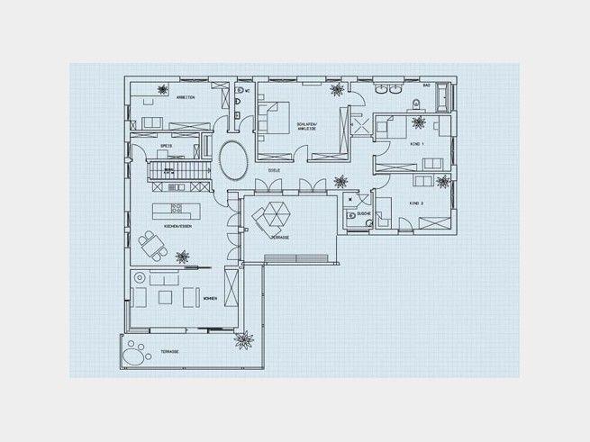 Grundriss Eg Bungalow Klassisch Einfamilienhaus Von