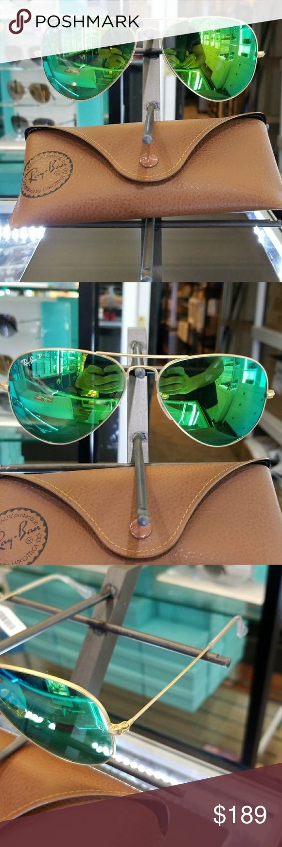 Ray ban 3025 aviators polarized lens 3025 ray ban green polarized size 58 authentic with warranty Ray-Ban Accessories Sunglasses