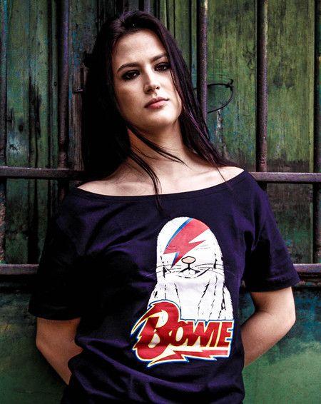 "Camiseta Feminina - ""Bowie Rabbit"""