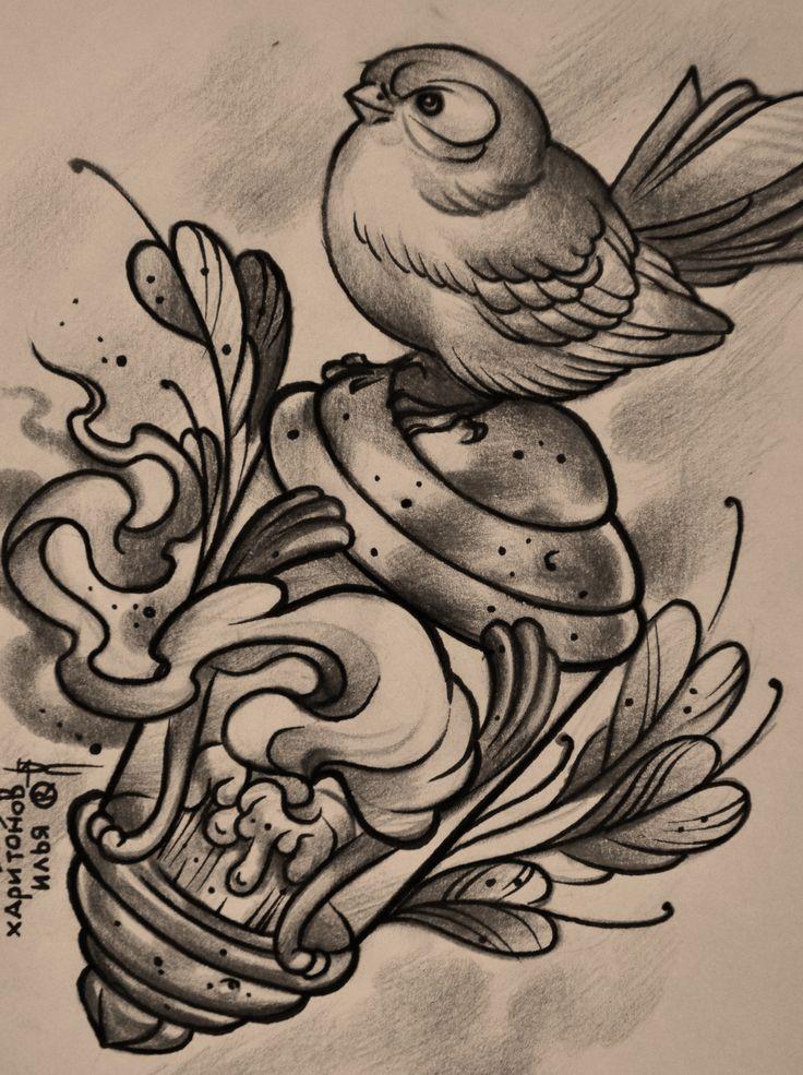 Pássaros tattoo desenhos