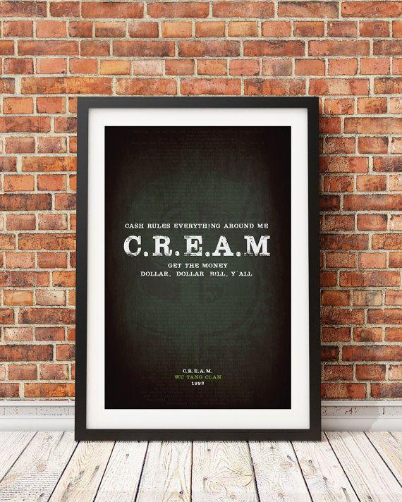Wu-Tang-Clan original  C.r.e.a.M.  Affiche de par StudioMaxe