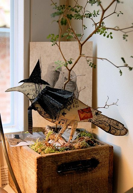 halloween crow by jennifer conway via flickr - Halloween Crow Decorations