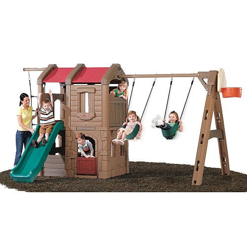Plastic Swing Sets Back Yard Outdoor Play Swing Sets