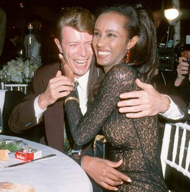 David Bowie and Iman One of the most iconic fashion-music matches, they were set up on a blind date in 1990 after her second and his first marriage ended. Iman says she knew two weeks into the relationship that he was the one when he greeted her at the airport with flowers, surrounded by fans and cameras, and no security. They married two years later in Switzerland and have one daughter, born in 2000