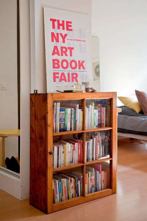 Love this: Book Shelf, Bookshelves, Idea, Book Storage, Bookshelf, Old Window, Book Shelves, Glasses Doors, Book Fair