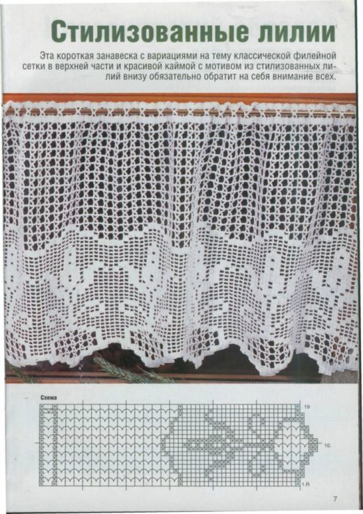 Gardine Filet häkeln ...  crochet - cortinas - curtain