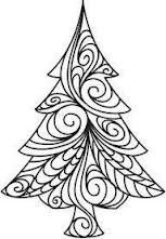 Christmas tree zentangles - Google Search