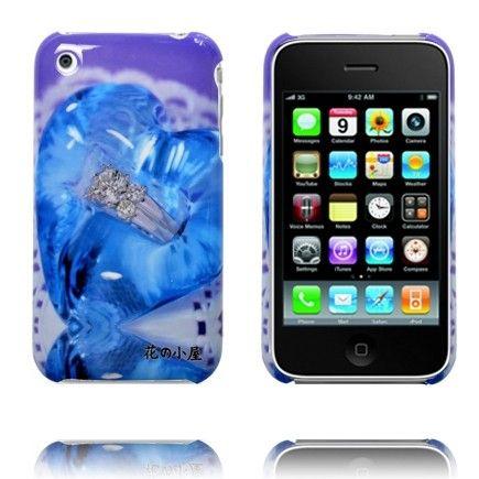 Cartoon Deksels (Blå Juvel) iPhone Deksel for 3G3GS
