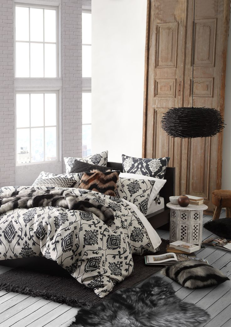 ULTIMA - Nylah Indigo Quilt Cover Set #bedroom #bed #décor #style #classic #silver  #ultima #loganandmason