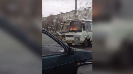 Hot wheels: 'Unimpressed' Russian man drives burning bus (VIDEO) https://tmbw.news/hot-wheels-unimpressed-russian-man-drives-burning-bus-video  A bus on fire casually driving through the streets was caught on film in a Russian town, proving that even public transportation can be quite a hot ride.Footage of a burning PAZ-brand bus, which rolled through the streets of the central Russian community of Orel, emerged on social media on Friday.[embedded content]The rather old vehicle, bearing a…