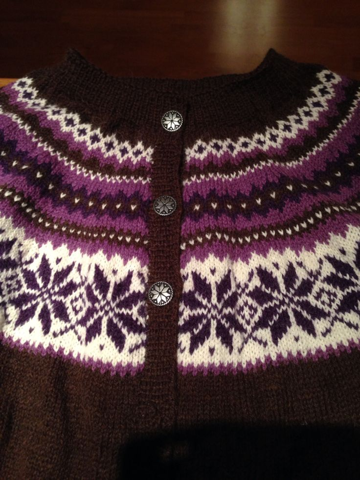 Nancykofte strikket i Hverdags fra Du Store Alpakka