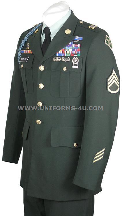 army dress uniform | US Army Class A Enlisted Green Uniform
