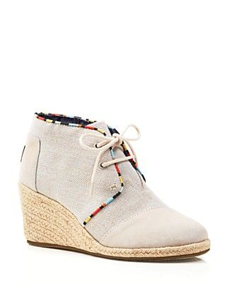 TOMS Wedge Booties - Desert | Bloomingdale's