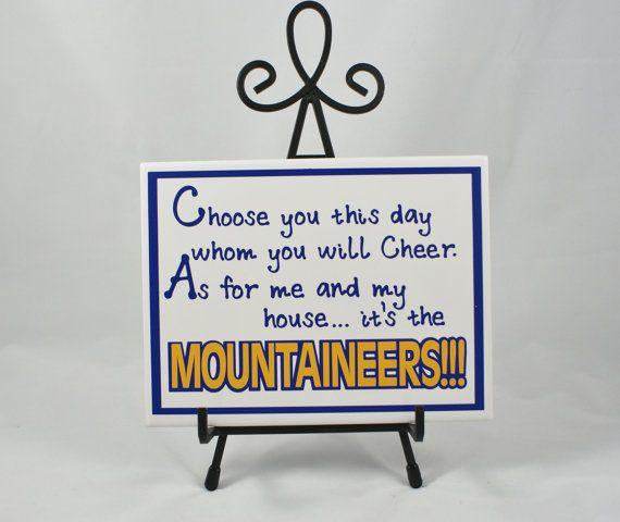 Mountaineer Fan - WVU Fan - Blue and Gold - Go Mountaineers - WVU Football - Morgantown Football - WVU Basketball #handmade #threedames