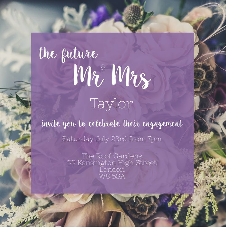 Send Elegant Online Engagement Party Invitations for FREE with Envytations - Purple Wedding Theme, Purple Engagement Party Theme